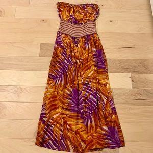 BCBGMaxAzria silk maxi dress